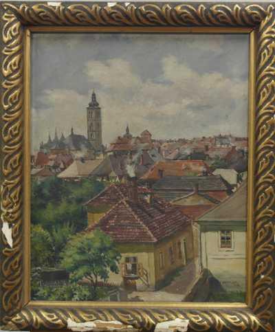František  Nachtigal - Pohled na Kutnou Horu