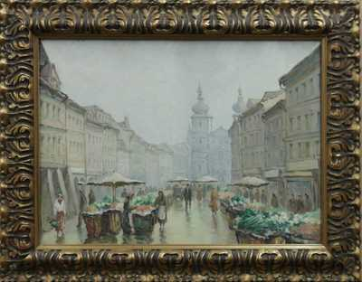 Emanuel  Smolík - Rajský - Ovocný trh