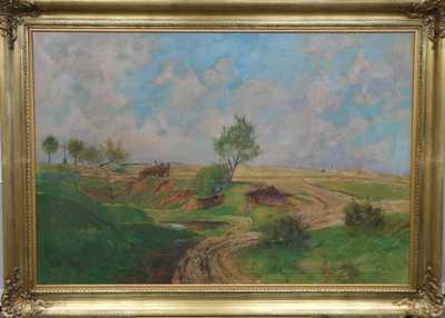 František  Hudeček - Povoz v krajině