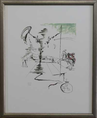 Salvador Dalí - Jezdec na koni