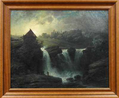 Autor neurčen - Pod vodopádem