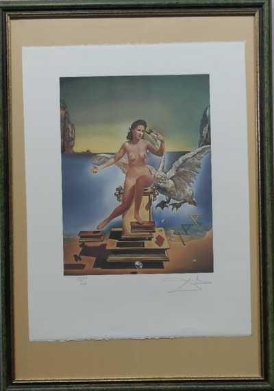 Salvador Dalí - Akt s labutí