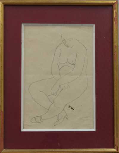 Georges Kars - Sedící akt