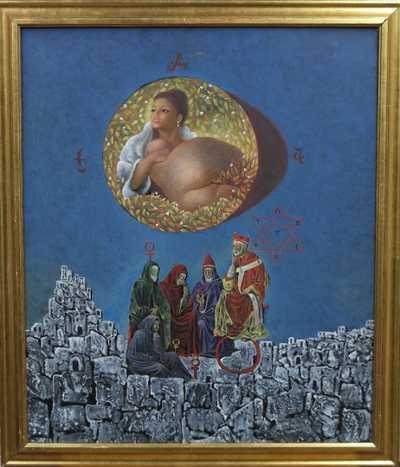Endre Rátkay - Král Salamón vítá královnu ze Sáby