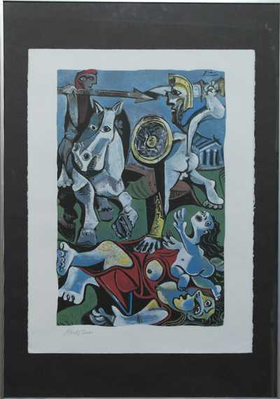 Pablo Picasso - Řecké boje