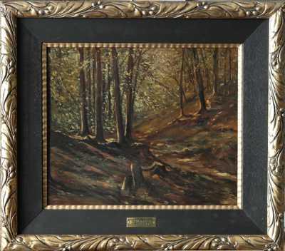 Julius Mařák - Lesní interiér