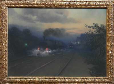 Josef Král - Večer na nádraží v Rakovníce
