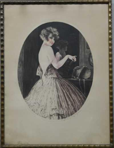 Autor neurčen - Dívka před zrcadlem
