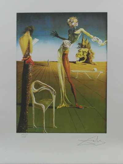 Salvador Dalí - Žena s hlavou růží