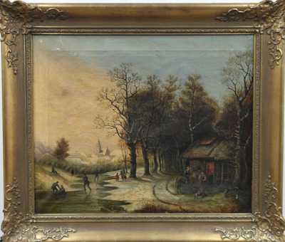 Autor neurčen - Zamrzlý potok u staré hospody