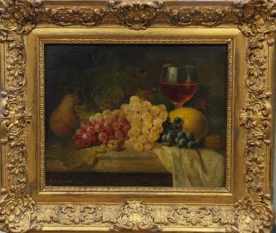 Johan Streitschek - Zátiší s ovocem a číší