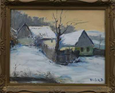 Bedřich Blažek - Chalupy v zimě
