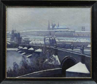 Alois Vladislav Vraný - Pohled na Pražský hrad