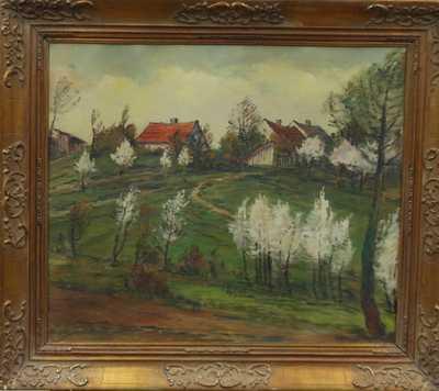 Karel Holec - Pohled na vesničku