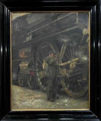 Vilém  Kreibich - Údržba před jízdou