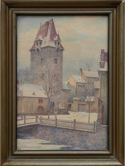 Gustav Brauner - Zasněžené město