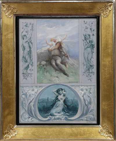 Adolf Liebscher - Studie k nástěnné malbě