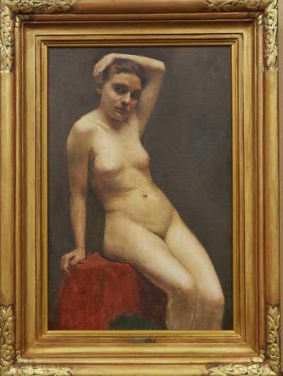 Maxmilian Pirner - Dívka v ateliéru