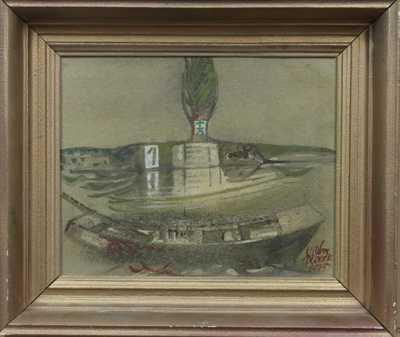 Vilém  Plocek - Loďka v průplavu