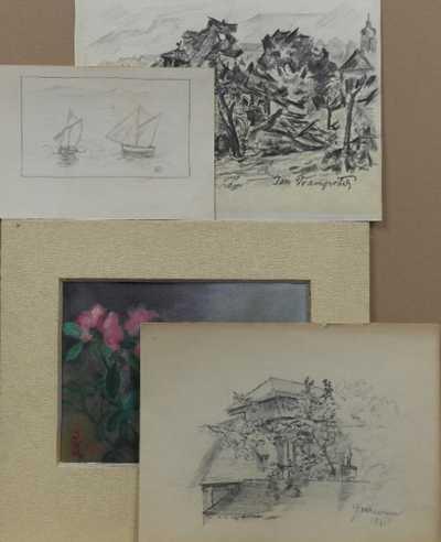Čeští umělci 20. století - Konvolut čtyř kusů