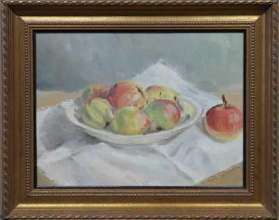 Emil Schovánek - Zátiší s jablky