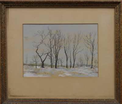 Ladislav László Mednyánszky - Stromy v zimě