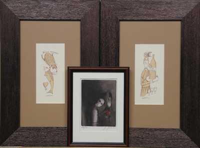 Čeští umělci 20. století - Konvolut tří kusů
