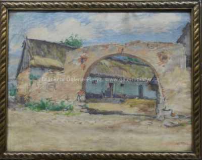 Adolf Träger - Na vesnickém dvorku