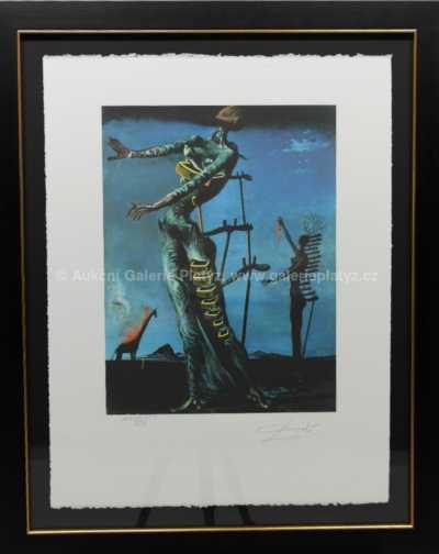 Salvador Dalí - Hořící žirafa