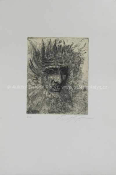 Ernst Fuchs - Hlava muže
