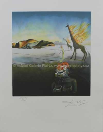 Salvador Dalí - Hořící žirafy