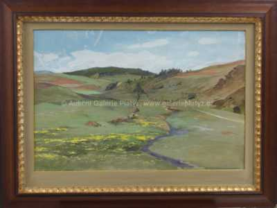 Josef Krejsa - Potůček v krajině