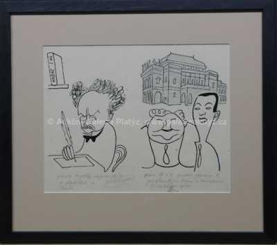Antonín Pelc - Karikatura Voskovec & Werich