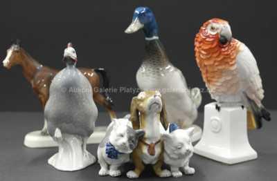 Porcelán - Konvolut pěti kusů porcelánových zvířátek