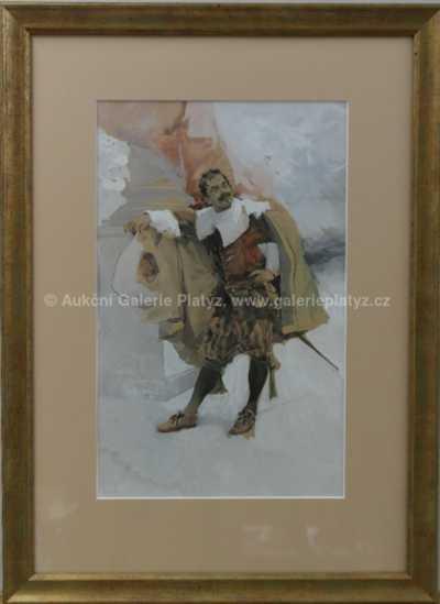 Luděk Marold - Odpočívající šermíř