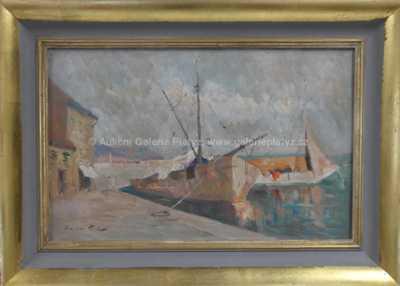 Karel Hodr - Bárky v přístavu