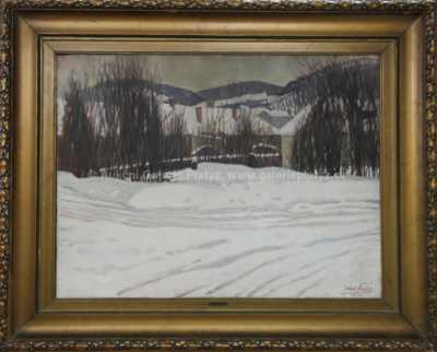 Julius Flache - Vesnice pod sněhem