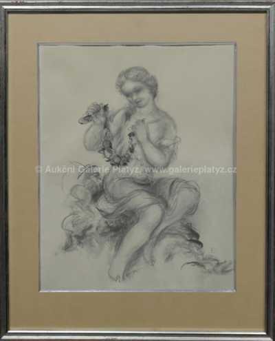 Linka Scheithauerová-Procházková - Děvče s věnečkem