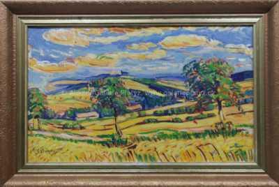 Bohumír Dvorský - Jabloně v polích