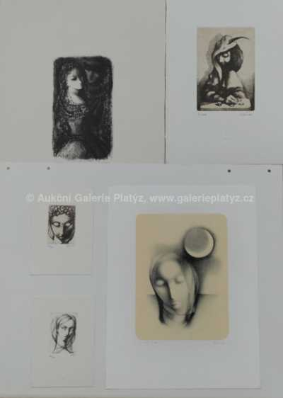 Ludmila Jiřincová - Konvolut deseti grafických listů