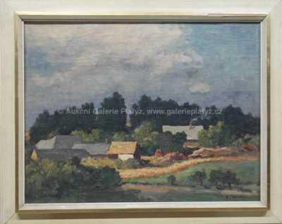 František Michl - Pohled na vesničku