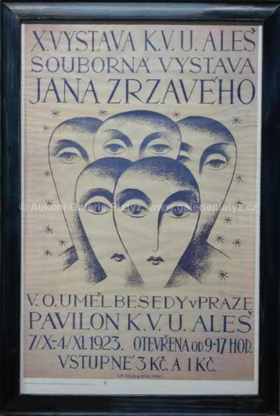 Jan  Zrzavý - Sběratelské vydání plakátu