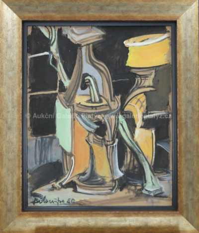 Andrej Bělocvětov - Zátiší s lahví