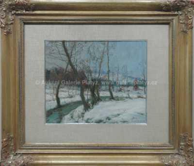 Alois Kalvoda - Zimní potůček