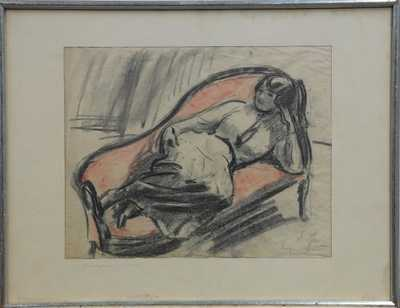 Eugen Spiro - Odpočinek v ateliéru