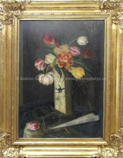 Autor neurčen - Zátiší s květinou