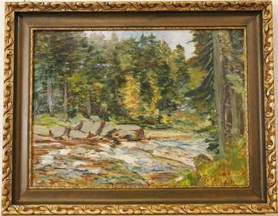 Antonín Hudeček - Potok v lese