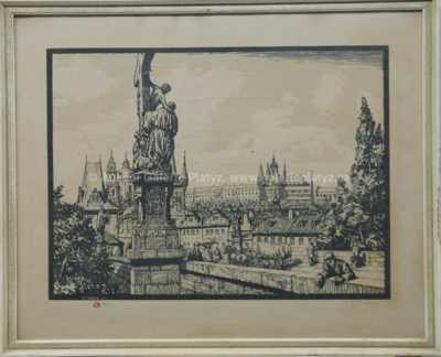 František Tavík Šimon - Na Karlově mostě