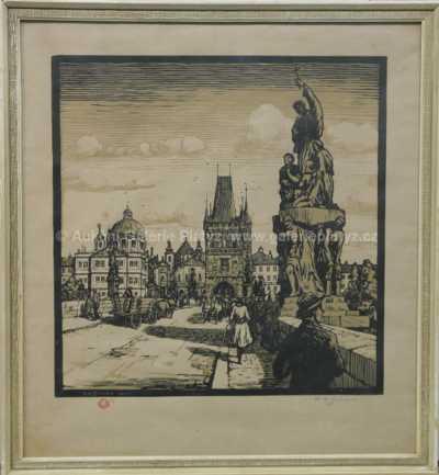František Tavík Šimon - Staroměstská mostecká věž