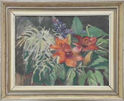 Milada Špálová - Květinové zátiší